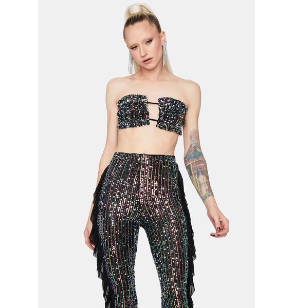 Fast Talking Gal Sequin Pants Set