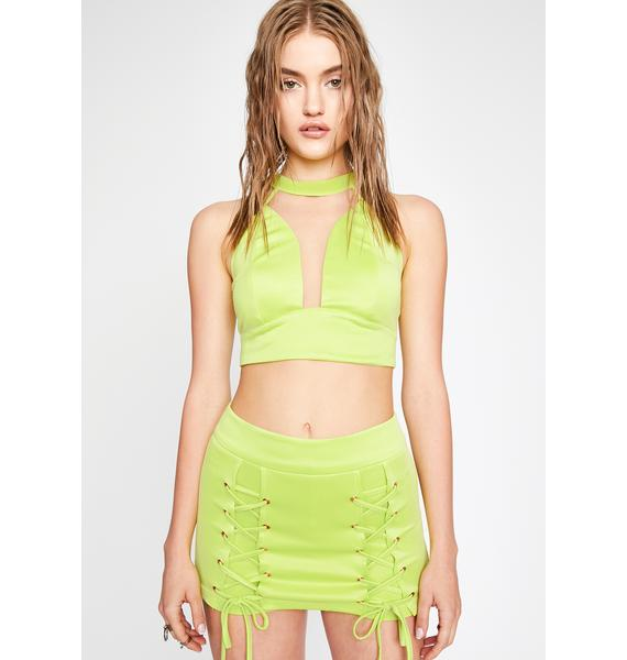 Get It Poppin Lace Up Skirt