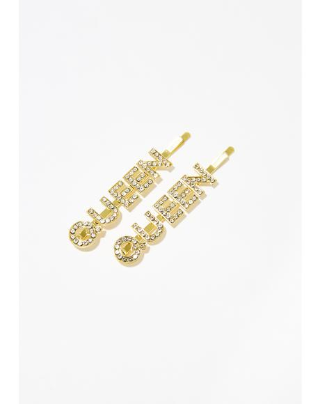 Queen Of It All Rhinestone Bobby Pins