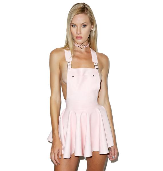 Jane Doe Latex Overall Mini Dress