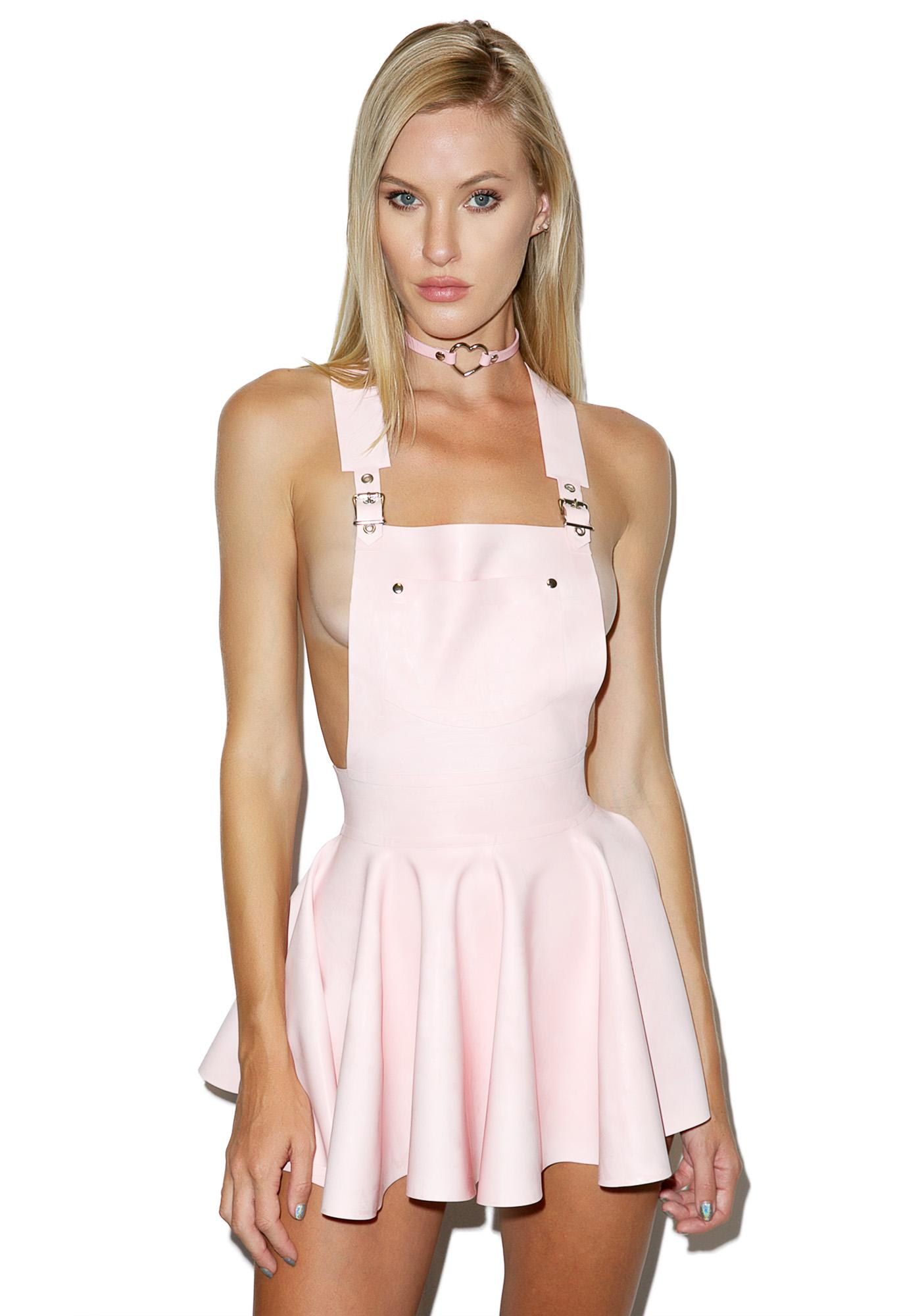 7df712a0fa8 ... Jane Doe Latex Overall Mini Dress ...