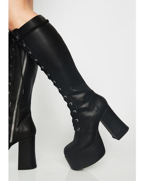 Twisted Sis Platform Boots