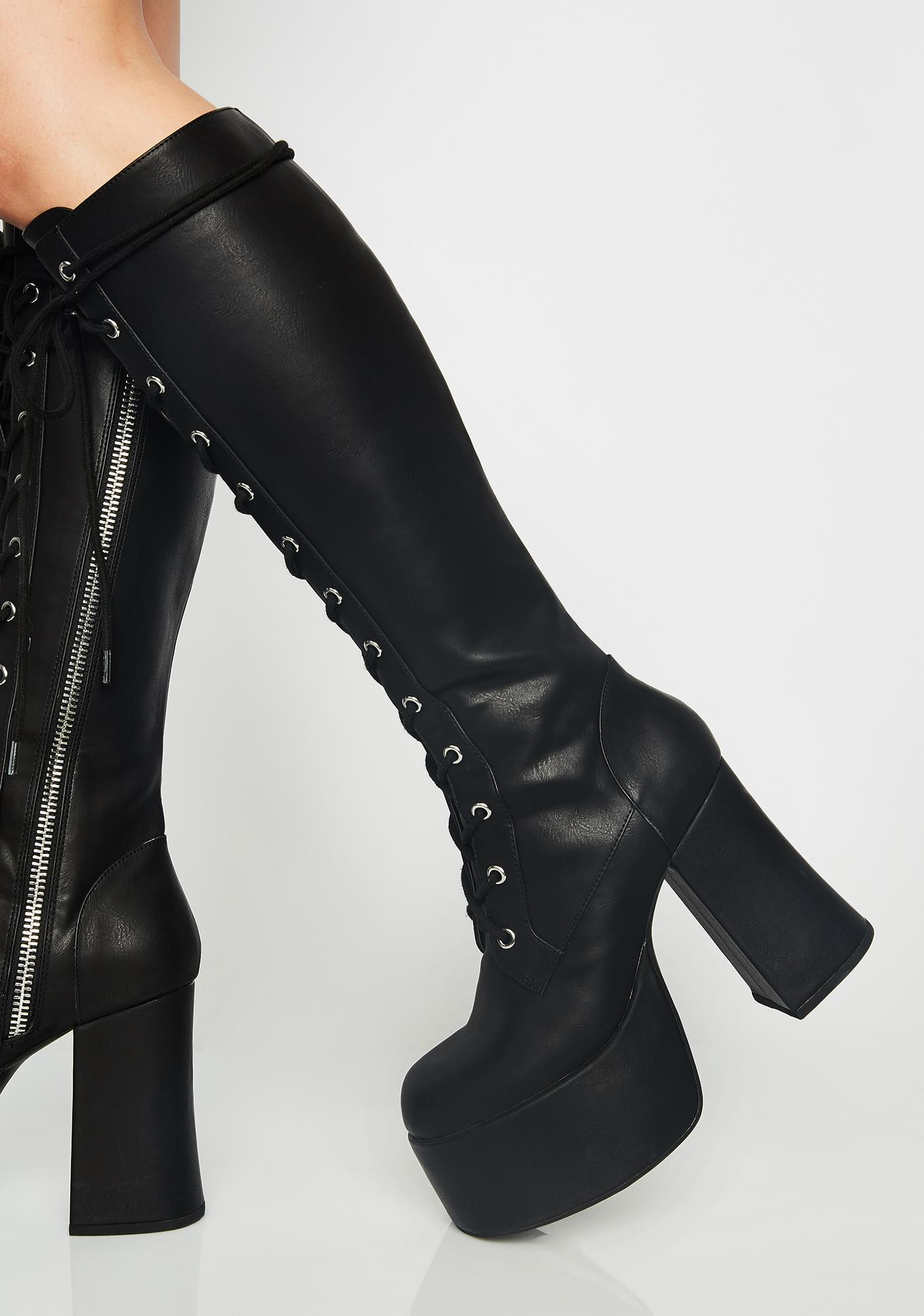 Current Mood Twisted Sis Platform Boots