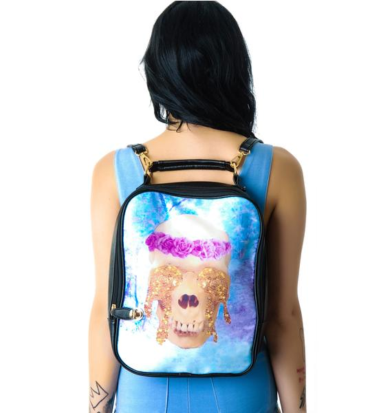 All That Glitters Skull Backpack