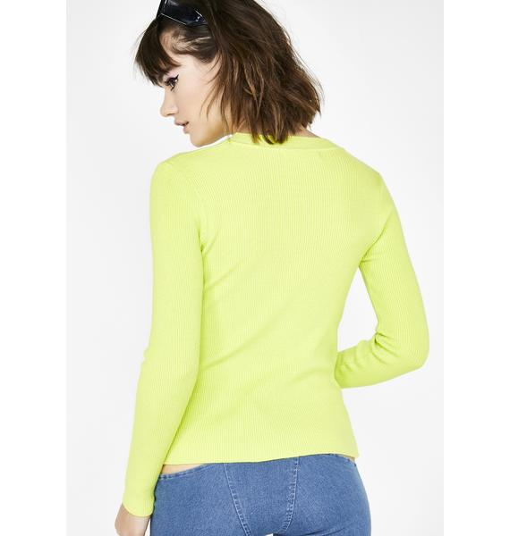 Toxic Hardcore Hottie Ruched Sweater