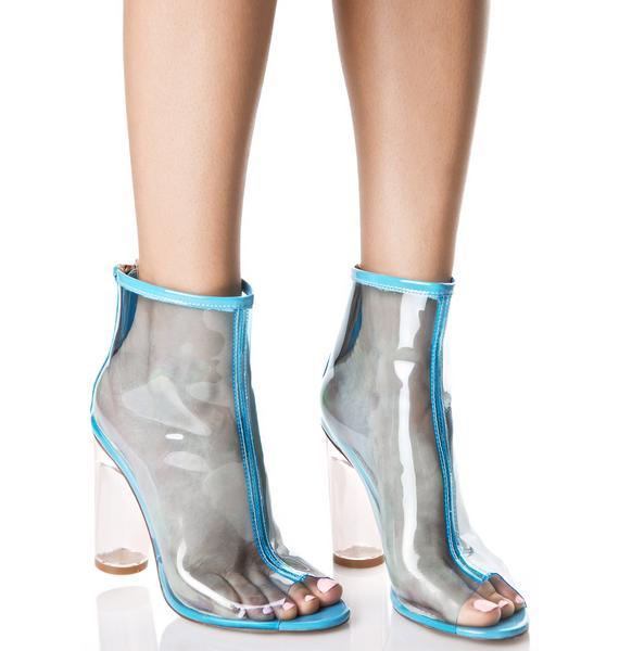 Aqua Pisces Peep-Toe Boots