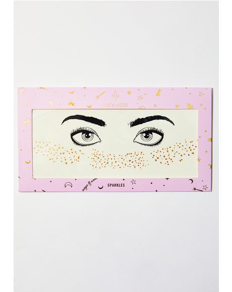 Gold Glitter Freckles