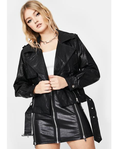 Midnight No Saints Moto Jacket