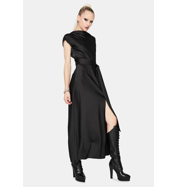 Rich And Famous Satin Maxi Dress