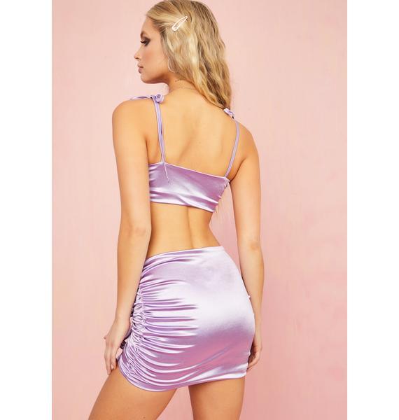 Sugar Thrillz Daytime Disco Satin Skirt