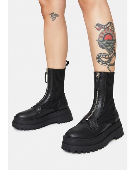 Code Zip Up Boots