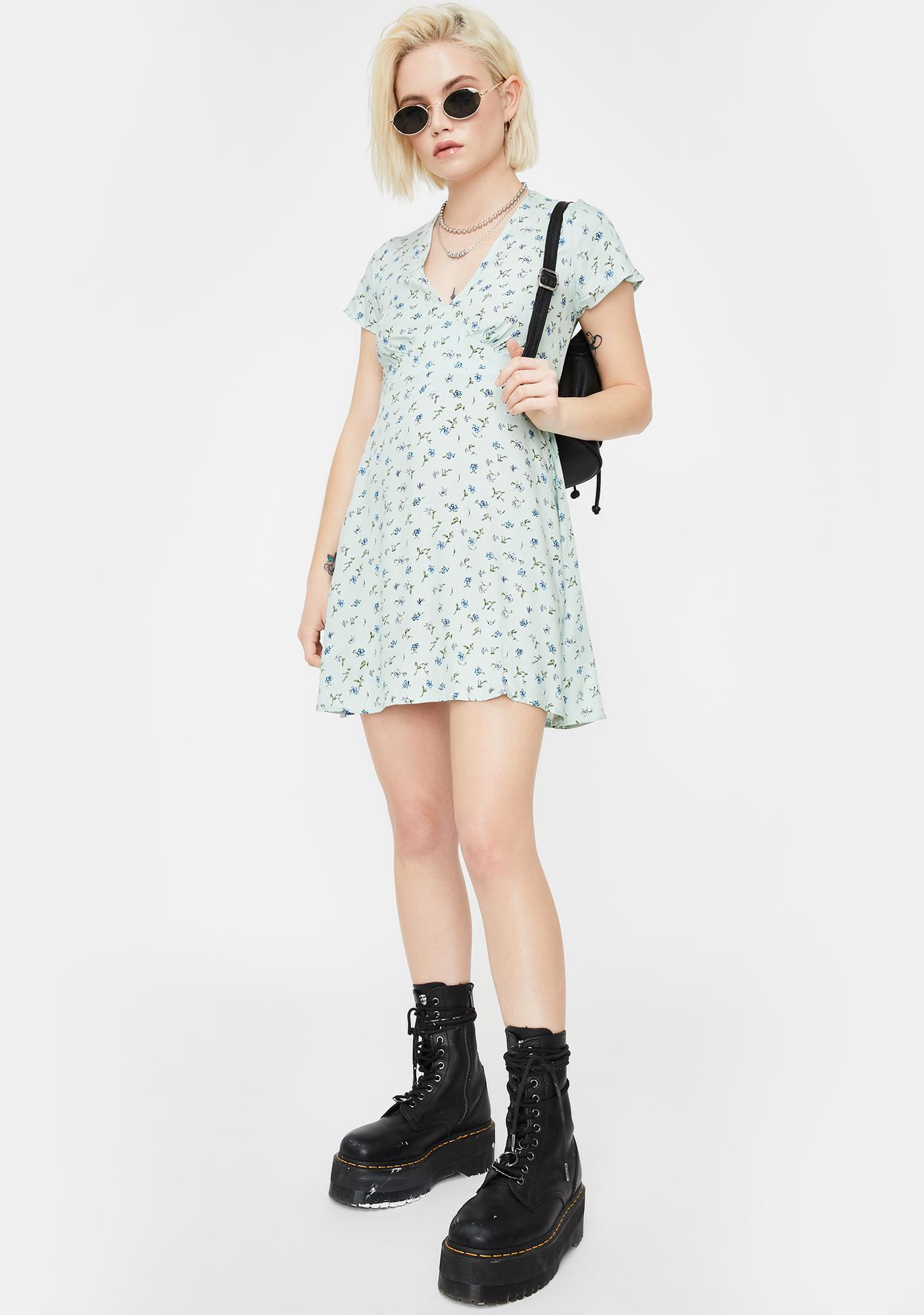 Motel Pretty Petal Elara Mini Dress