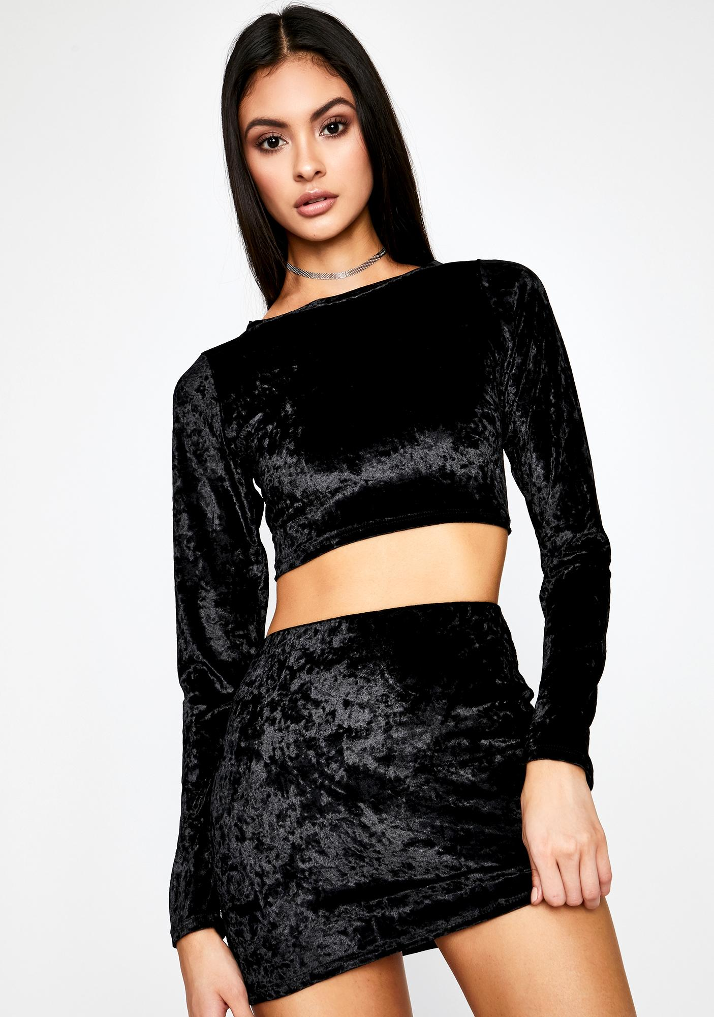 Coal Crush Your Faith Skirt Set