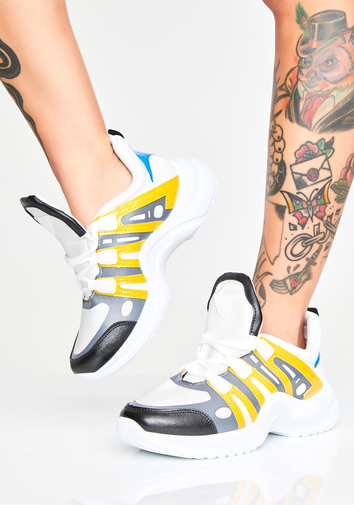 Glowin' Cuz I'm Fresh Chunky Sneakers