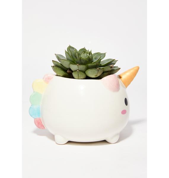 Smoko Elodie Unicorn Planter