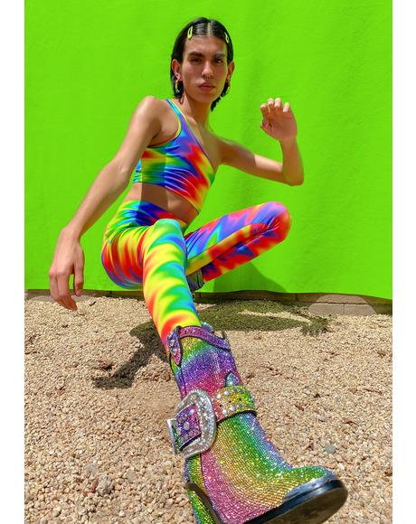 Fly Ur Flag Rainbow Leggings