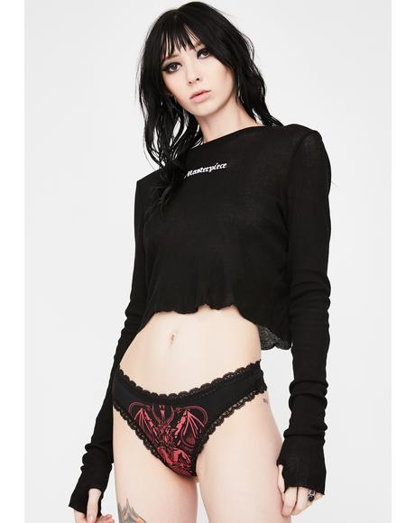 Red Deadly Night Lace Panties