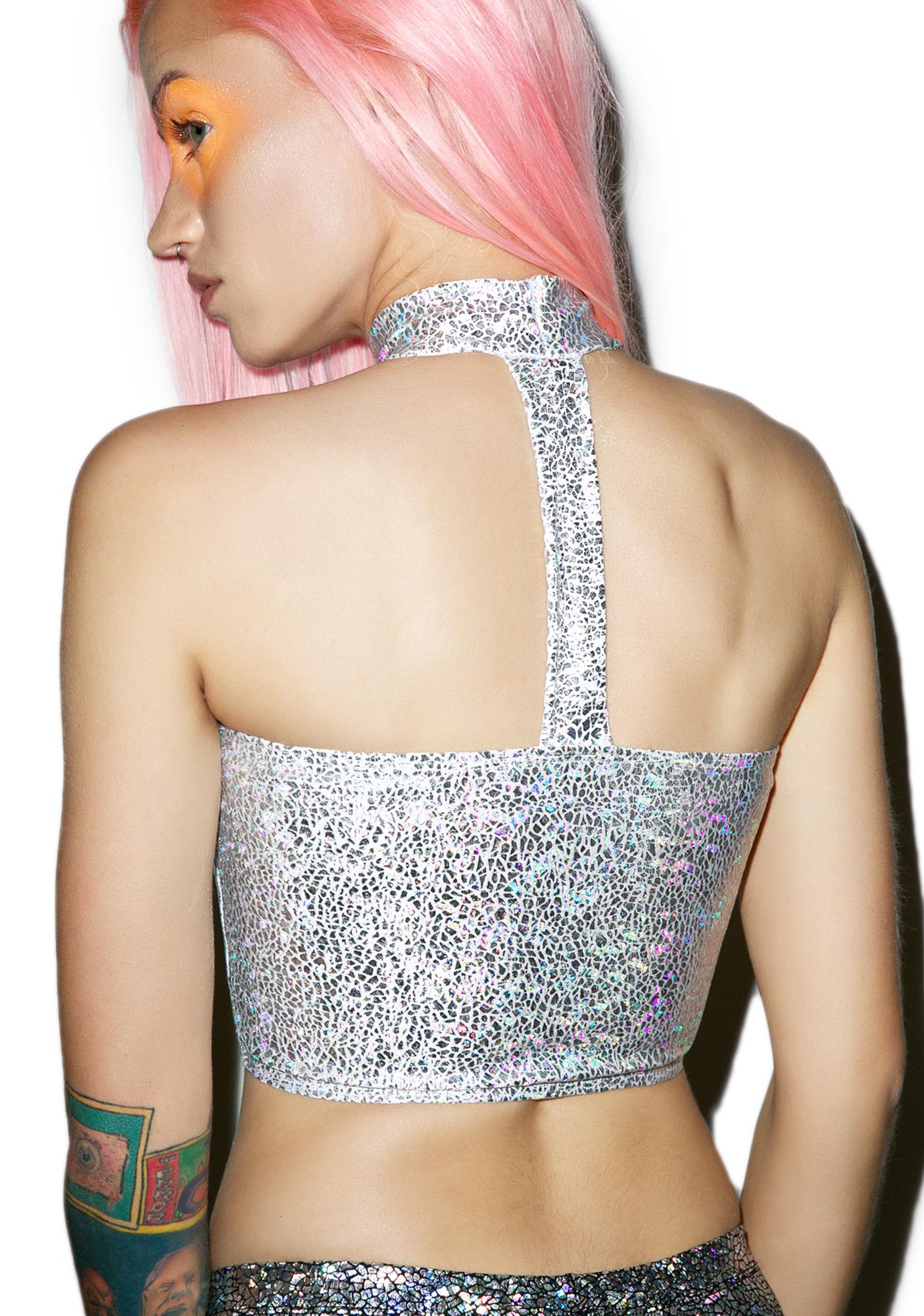Mi Gente Clothing Disco Choker Tube Top