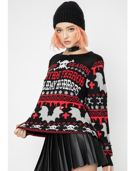 Yuletide Terror Knit Sweater