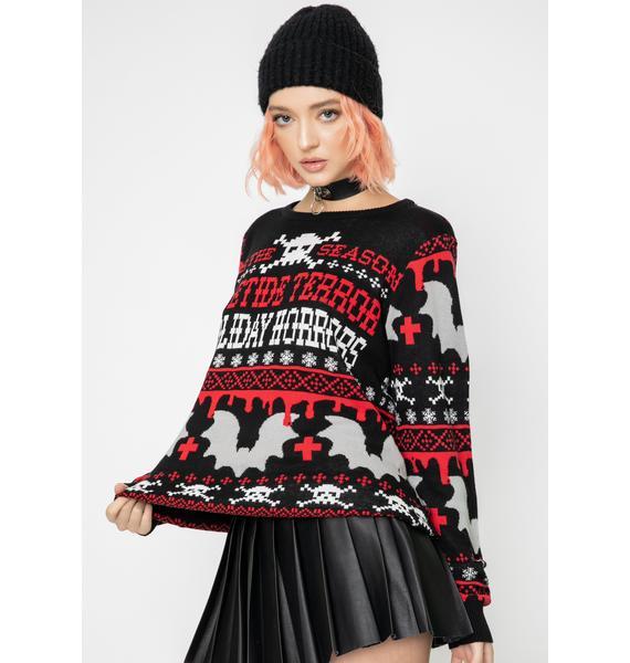 Too Fast Yuletide Terror Knit Sweater