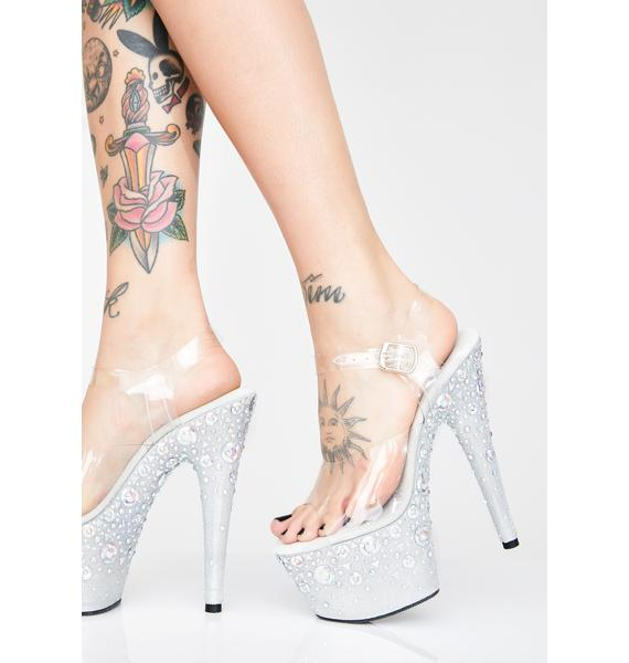 Pleaser Glass Slipper Platform Heels