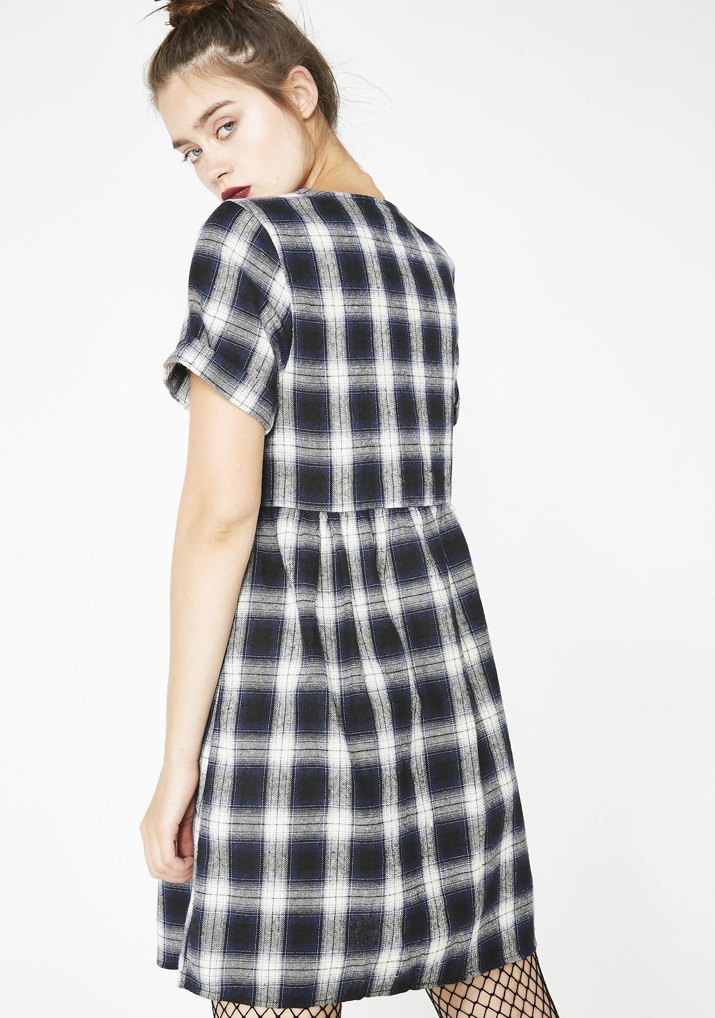 526bcb53f33 ... Plaid First Time Babydoll Dress ...