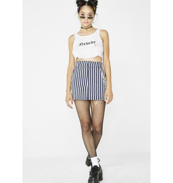 O Mighty Work Stripes Chain Skirt