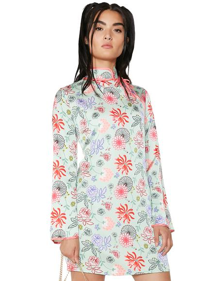 Song Long Sleeve Floral Dress