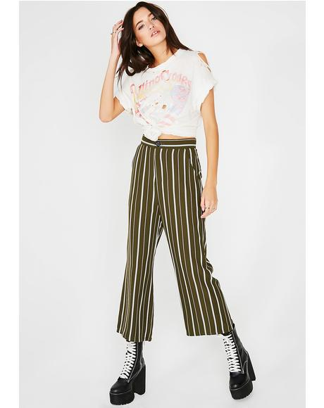 Dank Breakin' Rulez Striped Trousers