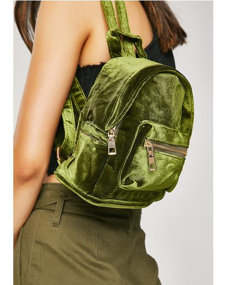 Leafy Soft Centered Mini Backpack