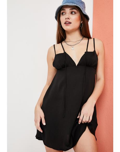 Nothing To Regret Satin Slip Dress