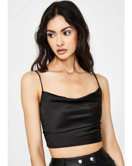 Black Ning Crop Top