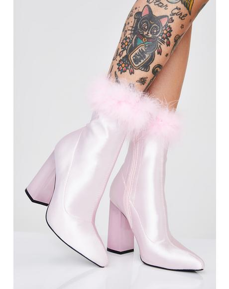 Luv Me Or Hate Me Marabou Boots