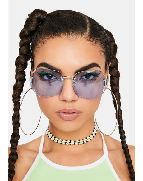 Blue Sweetness Oversized Sunglasses