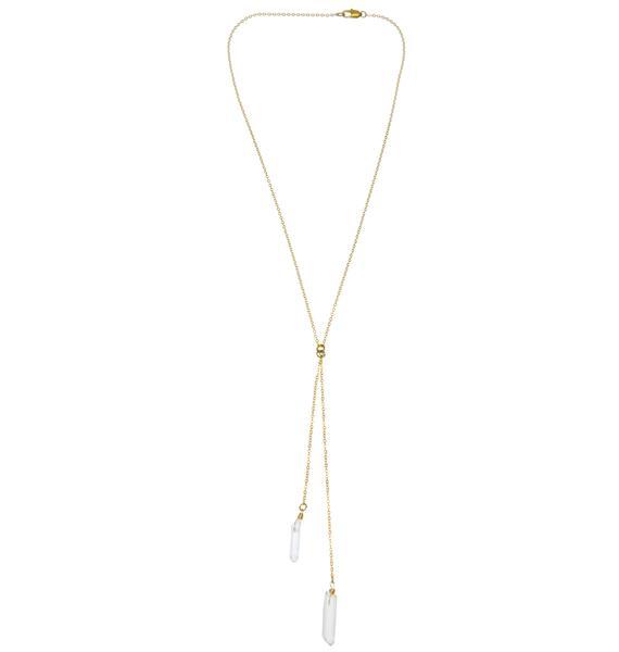 Ebb & Flow Stagger Lee Quartz Necklace