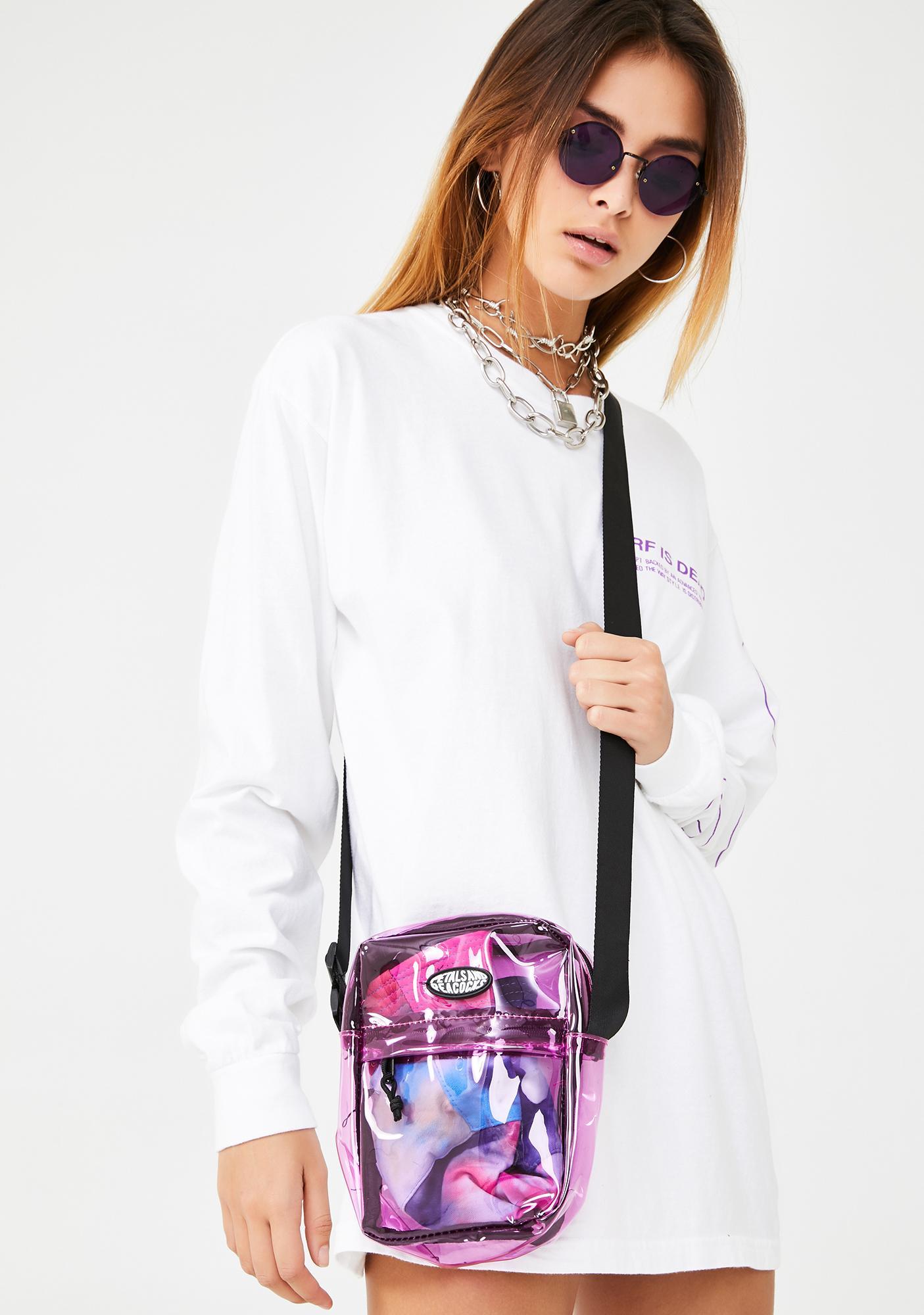 Petals and Peacocks Candy Iridescent Shoulder Bag