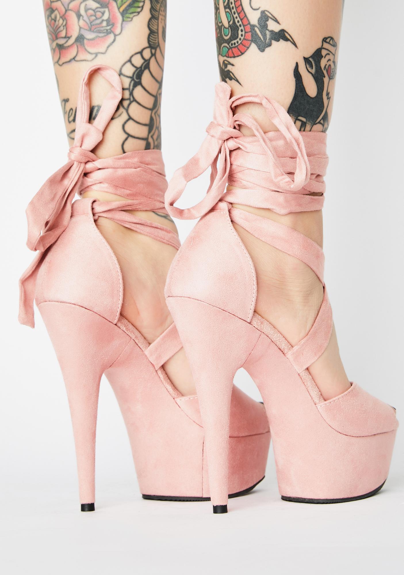 Pleaser Blush Plush Strut Platform Heels