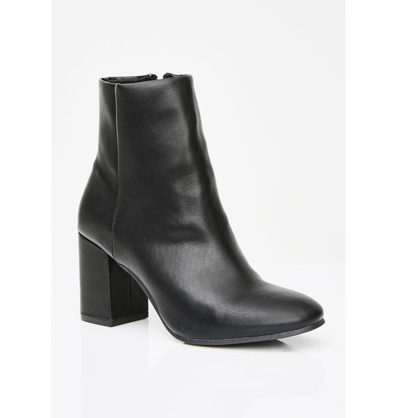 Matte Pretty Bish Ankle Boots