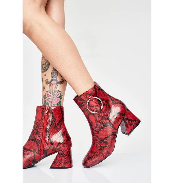 Public Desire Sidewinder Snakeskin Boots