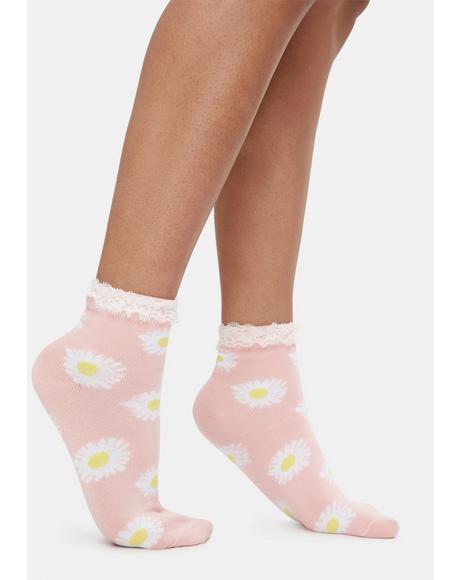 Rose Daisy Fields Socks