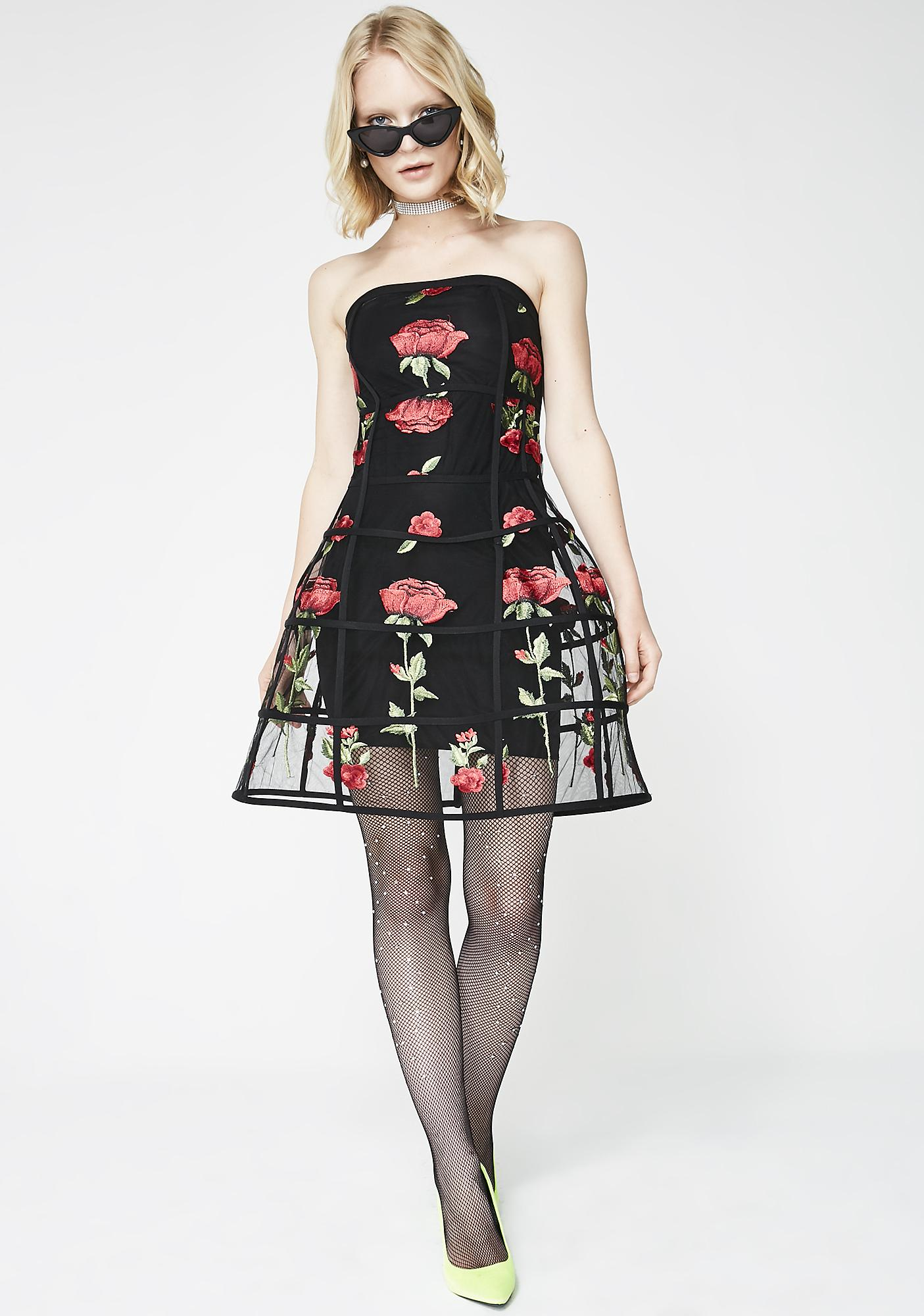 Kiki Riki Send Me Roses Cage Dress