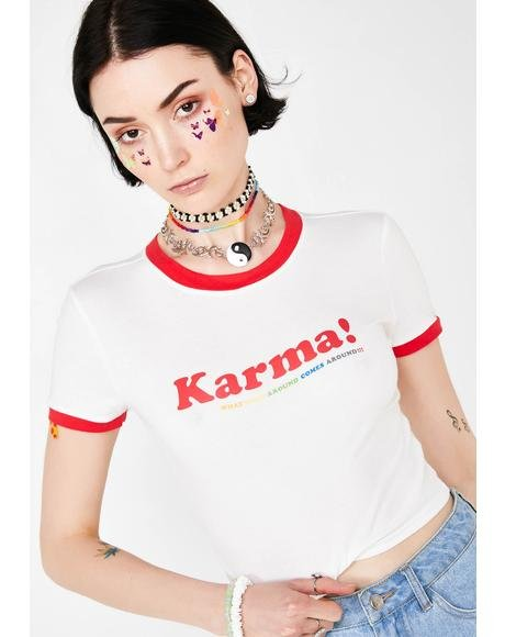 Good Karma Ringer Tee