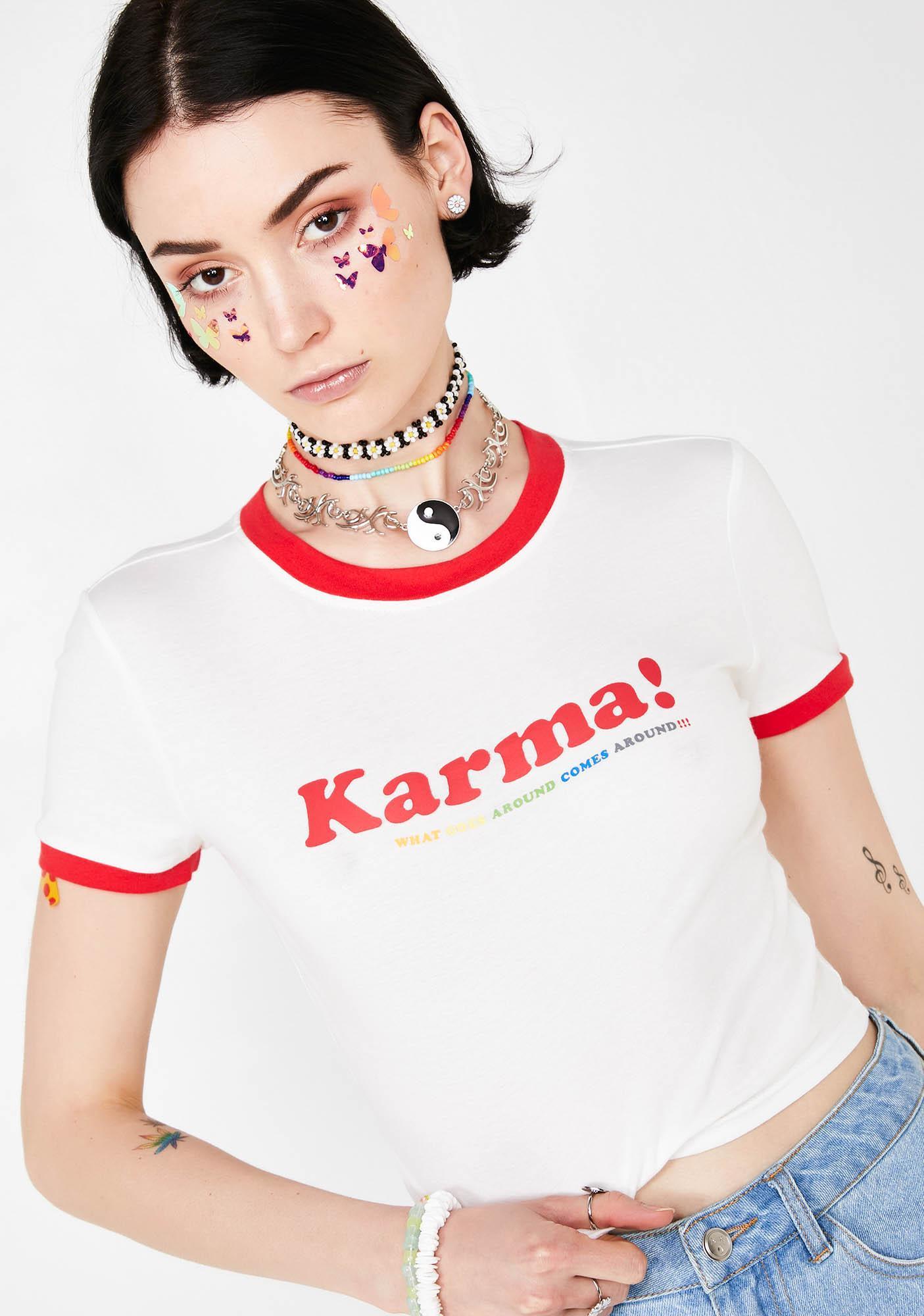 Good Karma Ringer Tee