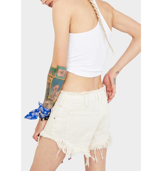 Free People Salty Becket Slouchy Cutoff Shorts