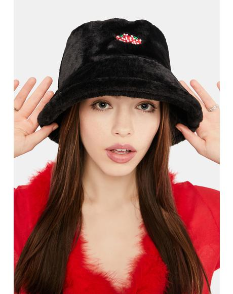 World Tour Strawberry Fuzzy Bucket Hat