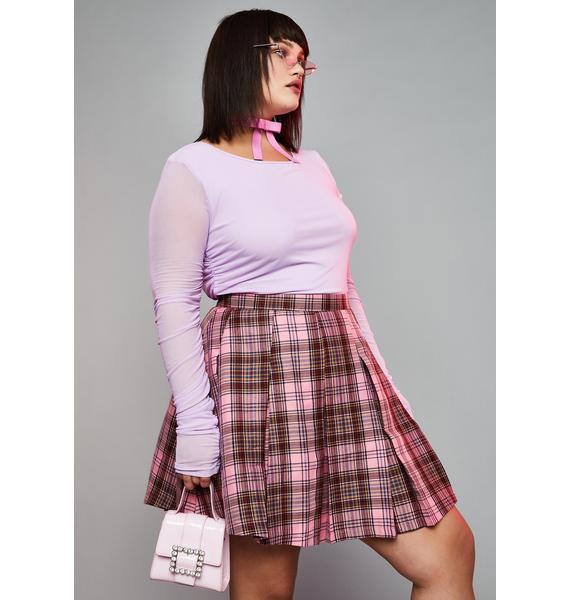 HOROSCOPEZ Miss Teacher's Pet Plaid Skirt