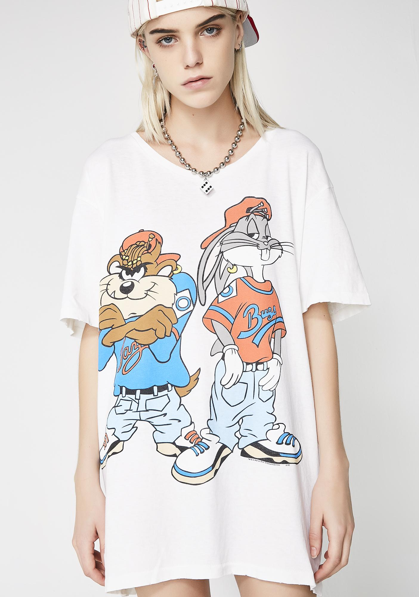 Junk Food Clothing Bugs And Taz Tee