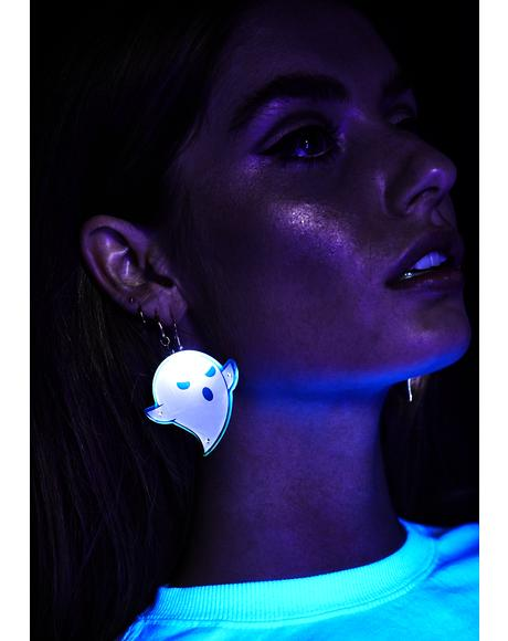 Light Up Ghost Earrings