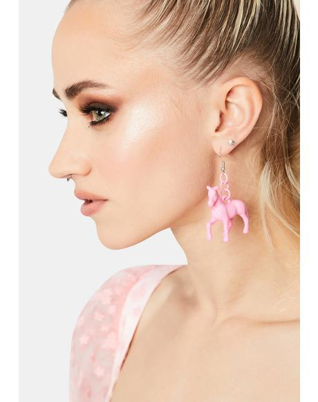 Sugar Amazing Race Horse Earrings