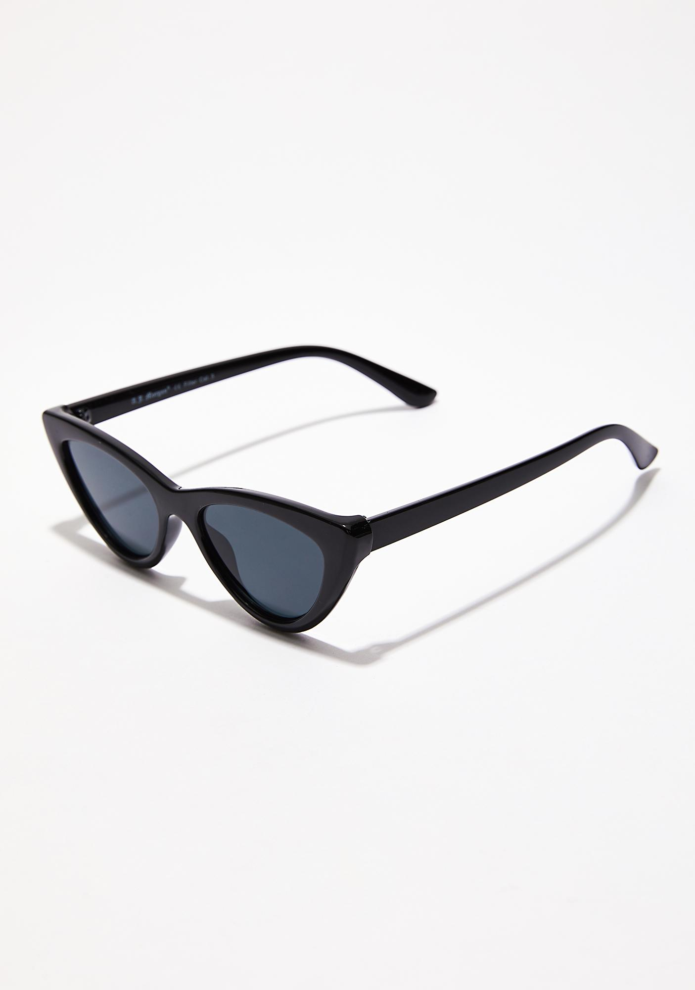 Dark Oh So Naughty Cat-Eye Sunglasses